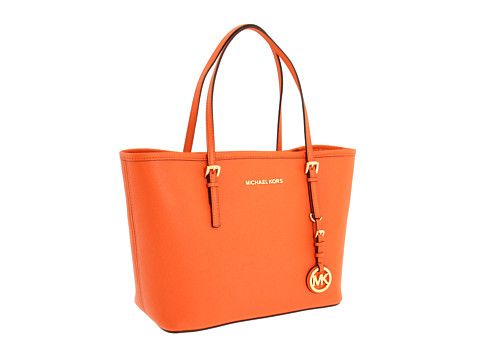MICHAEL Michael Kors Jet Set Small Travel Tote Tangerine - Zappos.com Free Shipping BOTH Ways