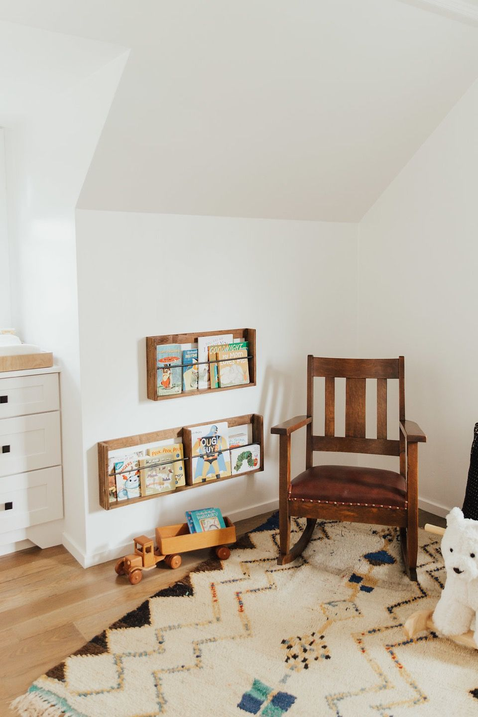 A Neutral And Minimal Baby Boy Nursery Kids Room Shelves Baby