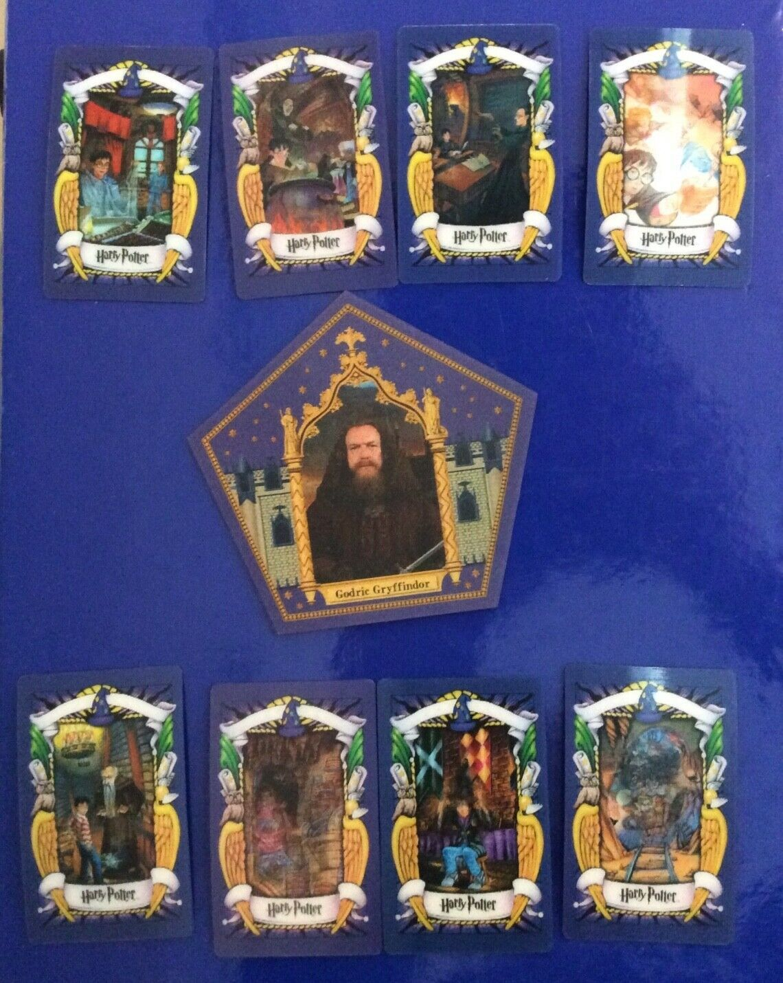 8 different harry potter original chocolate frog cards