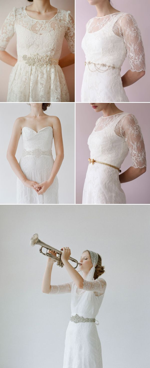 Wedding dresses for full figures  A Touch of Glamour   Sashes and Belts That Create Sleek Figures