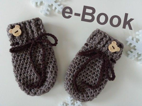 Häkelanleitung Babyhandschuhe, handschuhe häkeln, häkeln fürs baby ...