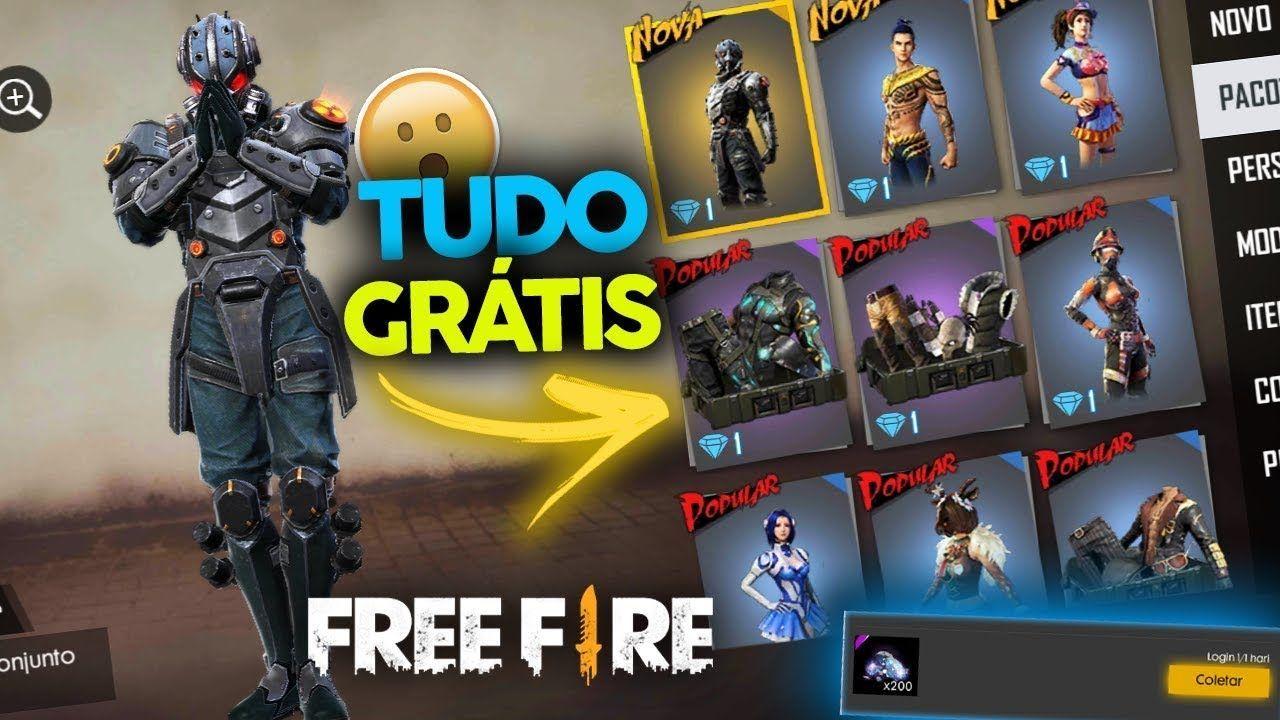 Tudo De Graca 200 Diamantes Diarios Na Nova Atualizacao Do Free Fire