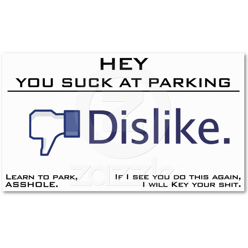 You Suck at Parking, Learn to Park Business Card | Funny pics and Humour