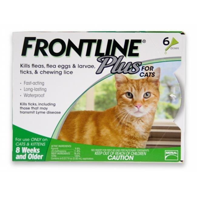 MERIAL 004FLTSP6CAT Frontline Plus Flea & Tick for Cats