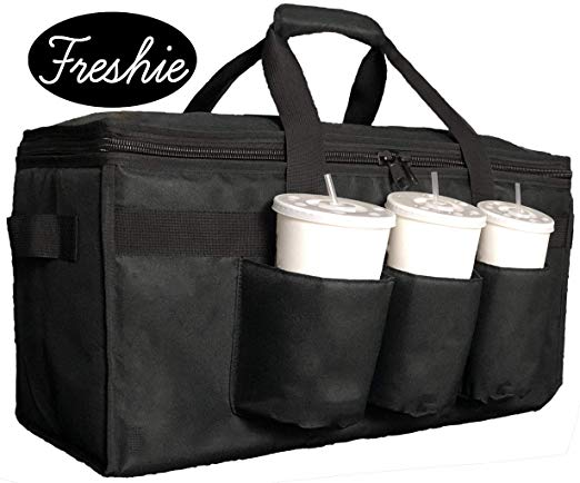 Amazon Com Insulated Food Delivery Bag With Cup Holders Drink Carriers Premium Xxl Great For Beverages Catering D Delivery Bag Drink Carrier Drink Delivery