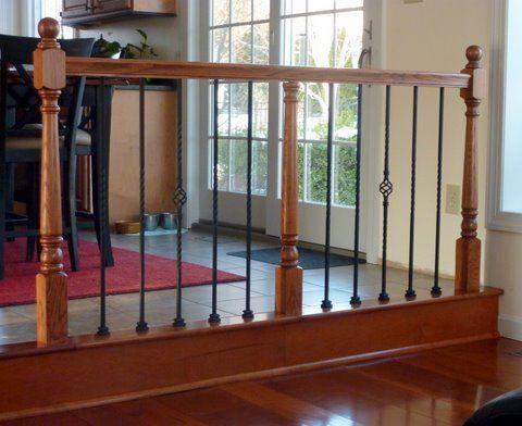 Railing Room Divider By 2Ol2Rac Homerefurbers Com Home | Living Room Railing Design | Balcony | Stair Case | Flooring | Step Down | Wrought Iron