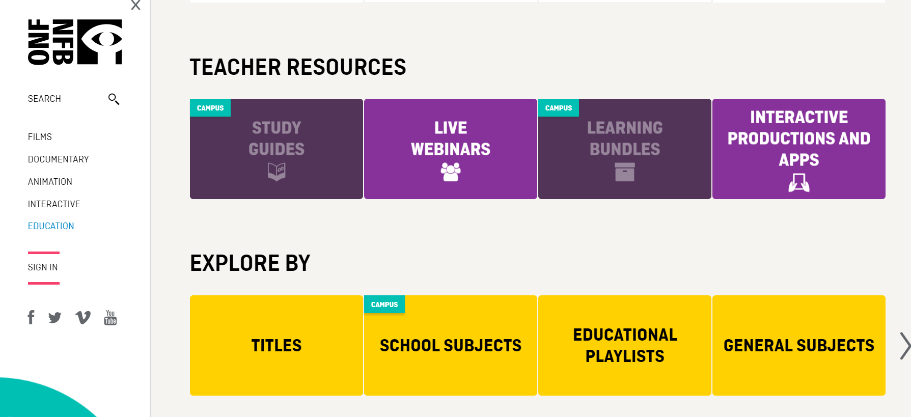 The National Film Board Education Resources