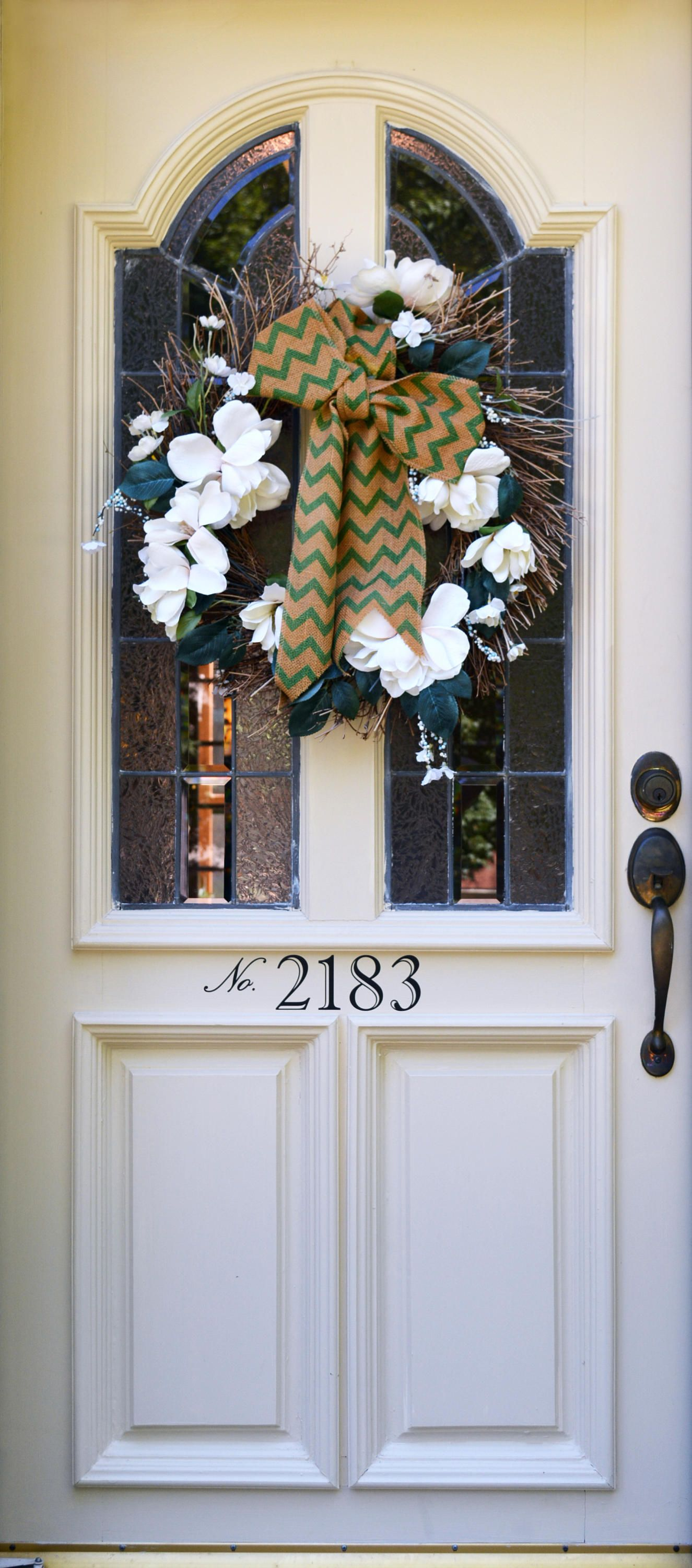 Front door number address number decal 3 or 4 by countryclubgraphics on etsy