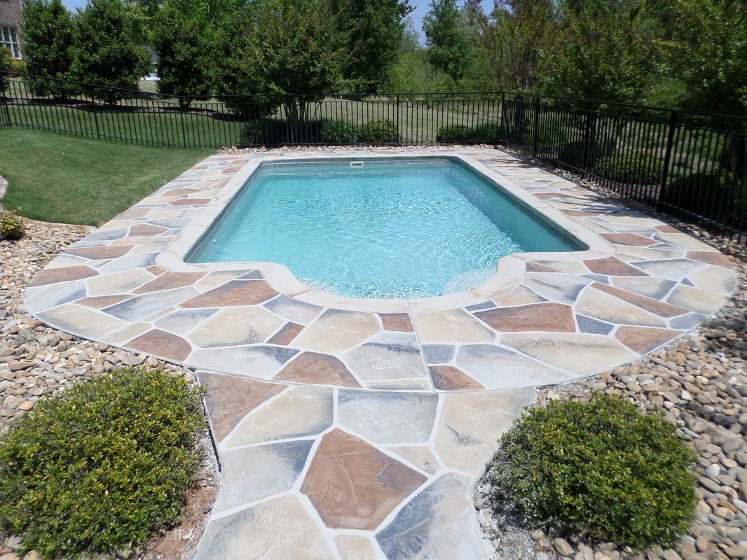 Decorative Concrete Pool Deck Overlay Stone Design South
