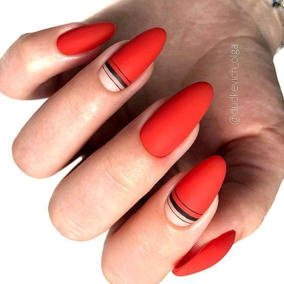 28 trendige und gemütliche rote Nail Art Designs - Mode 2D   - Nails. -