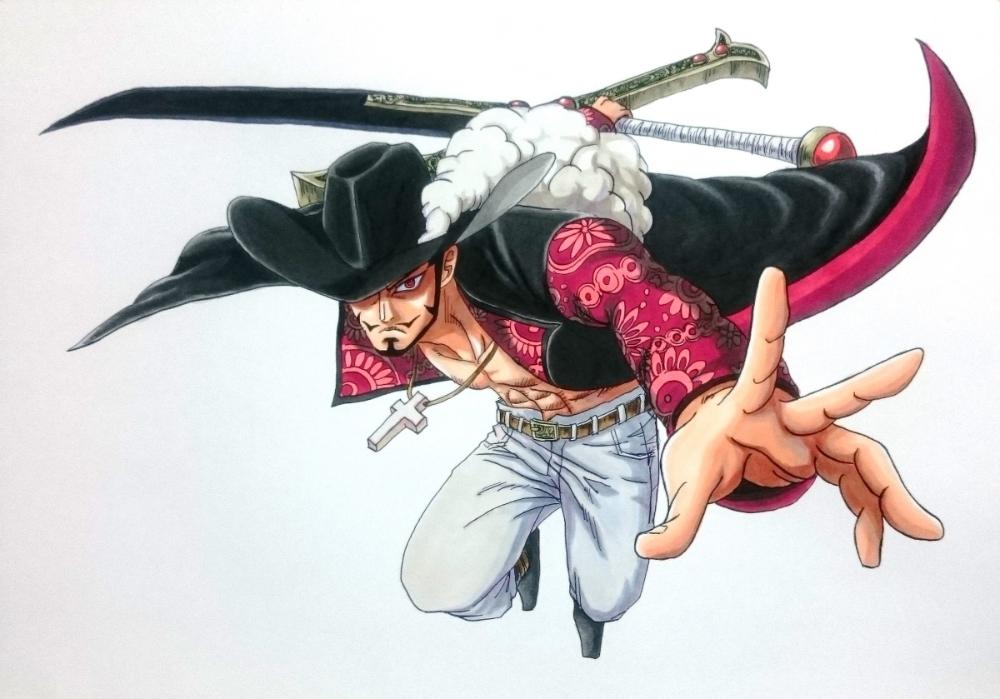 ワンピース 世界最強剣士ミホークの斬撃 トレクルより yuichi的插画 pixiv トレクル ミホーク イラスト
