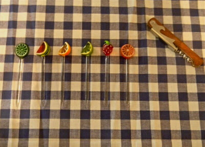 Detalhe DIY no palito (festa citrus)