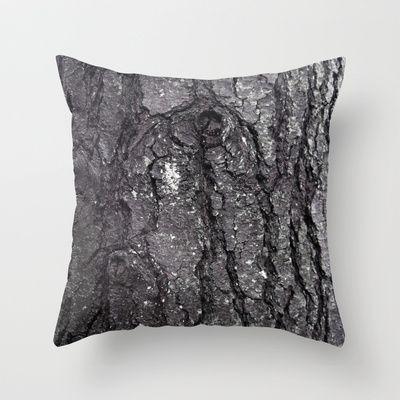 Black Bark Throw Pillow by Danielle Fedorshik - $20.00