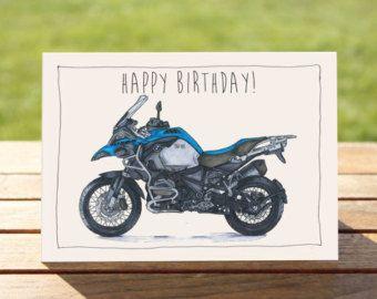Motorcycle Birthday Card Bmw R1200gs A6 6 X 4 103mm X