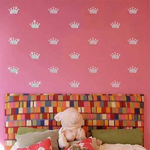 $16.99 - VanBest Glitter Silver Crown Wall Sticker DIY Home Living ...