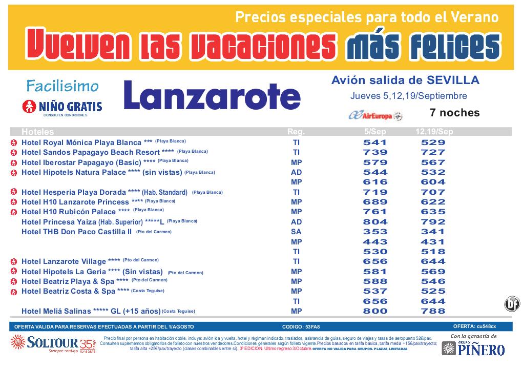 3ªEdición Las vacaciones mas felices. Hoteles en Lanzarote salidas desde Sevilla - http://zocotours.com/3aedicion-las-vacaciones-mas-felices-hoteles-en-lanzarote-salidas-desde-sevilla/