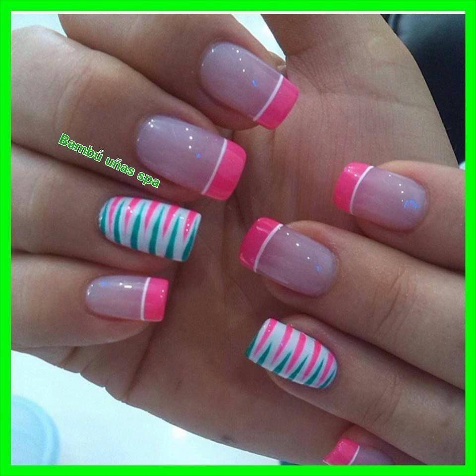 Rosadas Y Rayita Nail Art Nails Nail Art Nail Designs