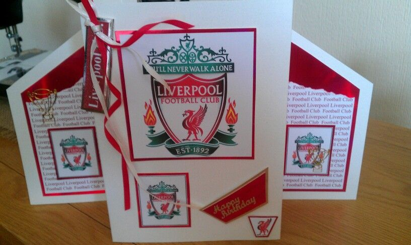 Liverpool F C Birthday Card I Made For My Son Cards Handmade Handmade Birthday Cards Birthday Cards