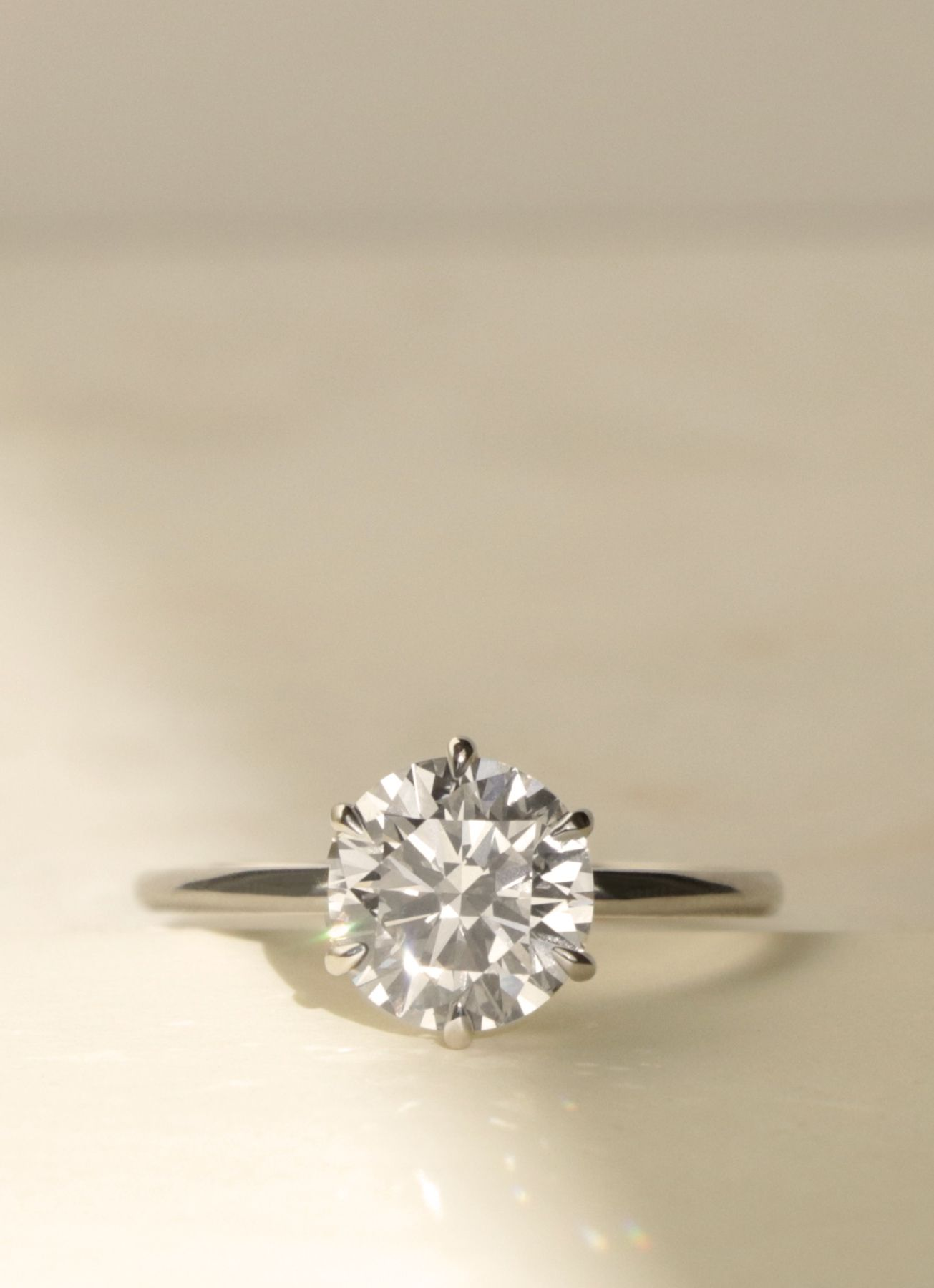 Vow: Vrai & Oro Wedding 2ct Solitaire Engagement Ring Modern Design,  Conflictfree