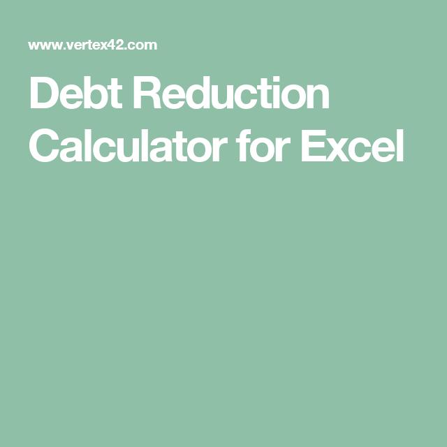 debt reduction calculator for excel goals for 2017 pinterest