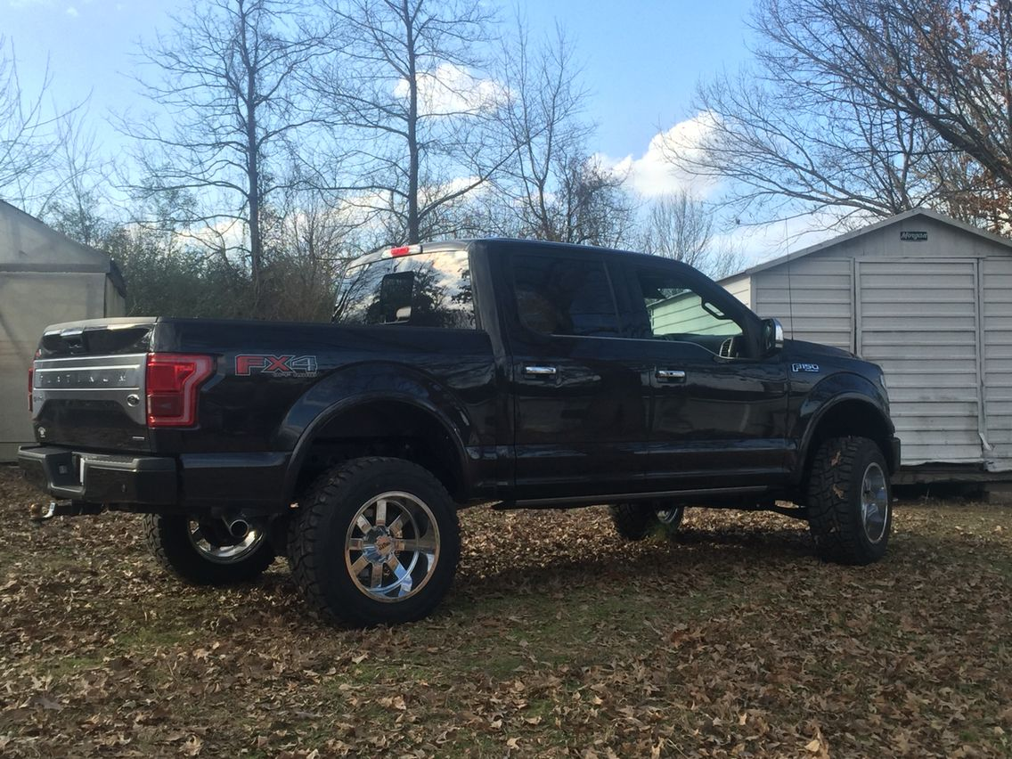 2015 ford f 150 platinum with 6 inch zone lift moto metal. Black Bedroom Furniture Sets. Home Design Ideas