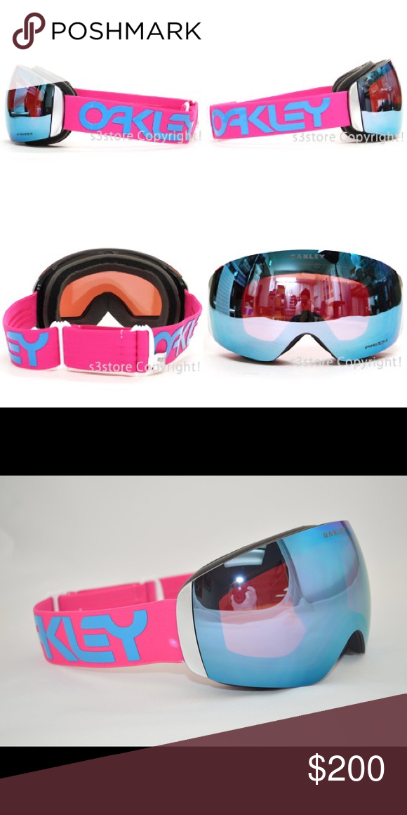 6b279390b890 Oakley Flight Deck XM Prizm Sapphire Pilot Pink Oakley Goggles Flight Deck  XM Prizm Sapphire Pilot Pink. Worn once! I don t go snowboarding enough to  need 2 ...