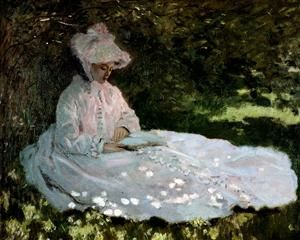 A Woman Reading by Claude Monet 1872