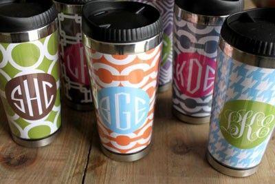 Clairebella Monogrammed Travel Mug (Many Styles Available!)