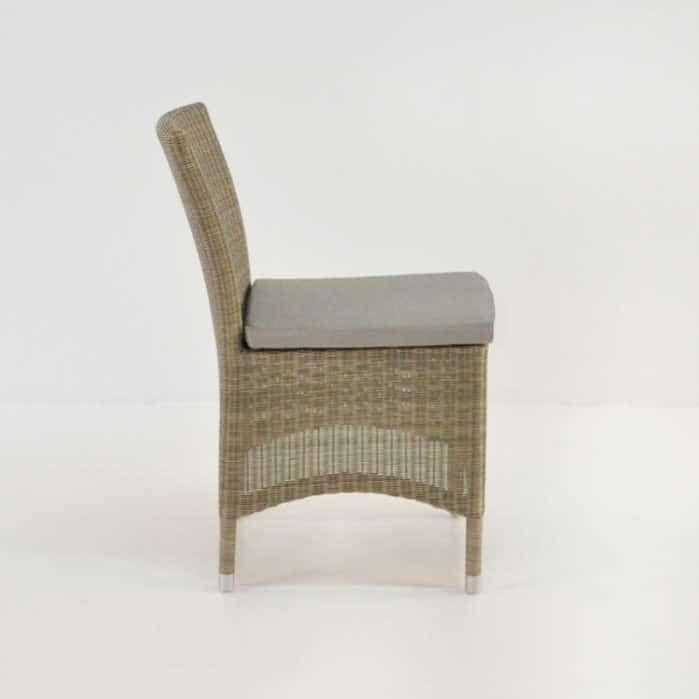 Enna Wicker Dining Side Chair (Stonewash) 0