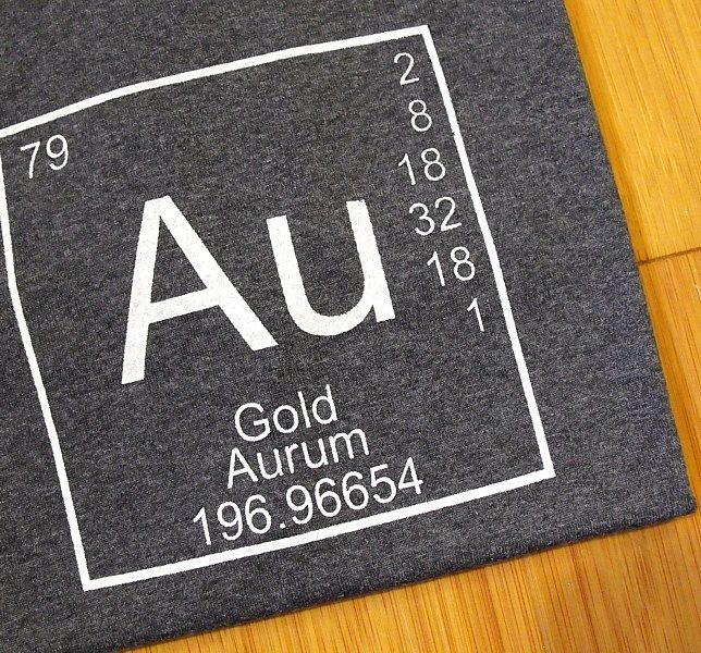 Mens t shirt cotton tee periodic table of elements gold au mens t shirt cotton tee periodic table of elements gold au science urtaz