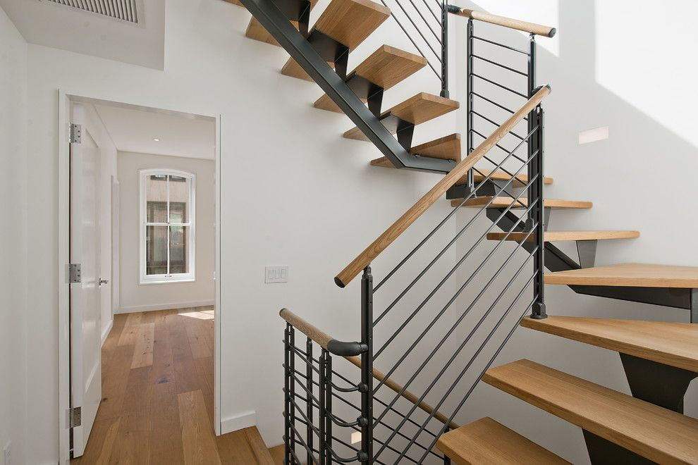 Innovative Open Tread Staircase In Staircase Contemporary With