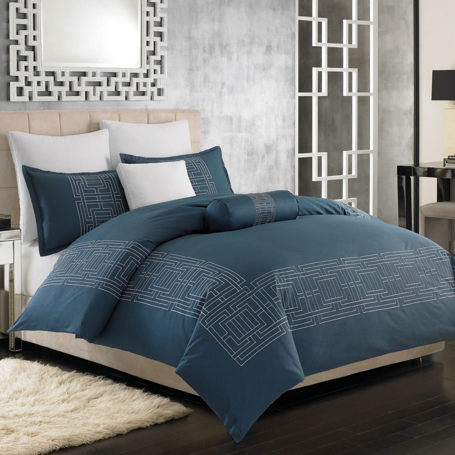 Nicole Miller Argos Blue Bedding