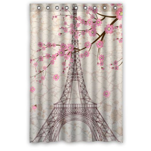Paris Eiffel Tower Bathroom Shower Curtain 48 X 72 Eiffel Tower