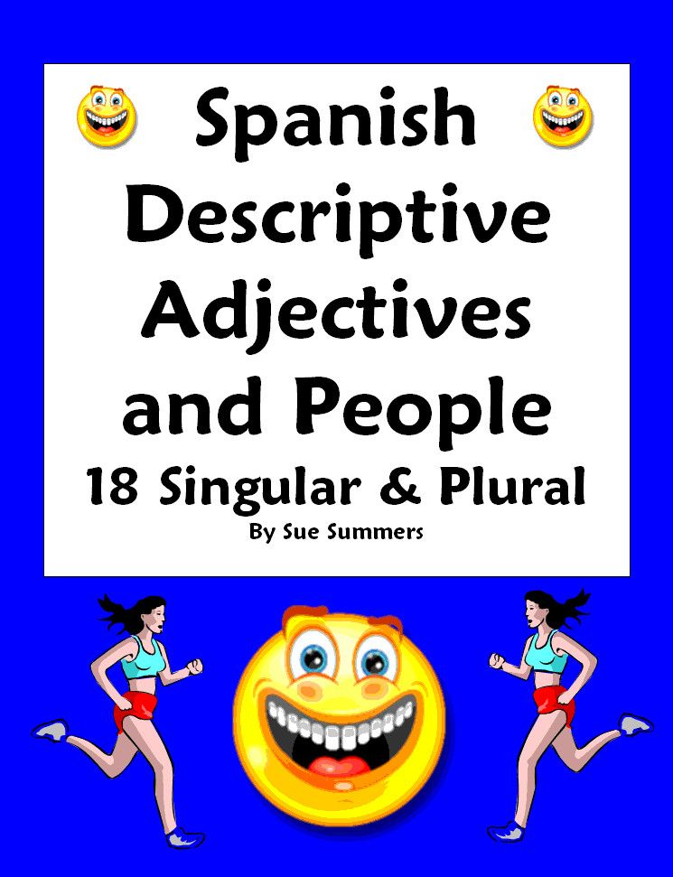 Spanish Adjectives People Worksheet Number Gender Agreement