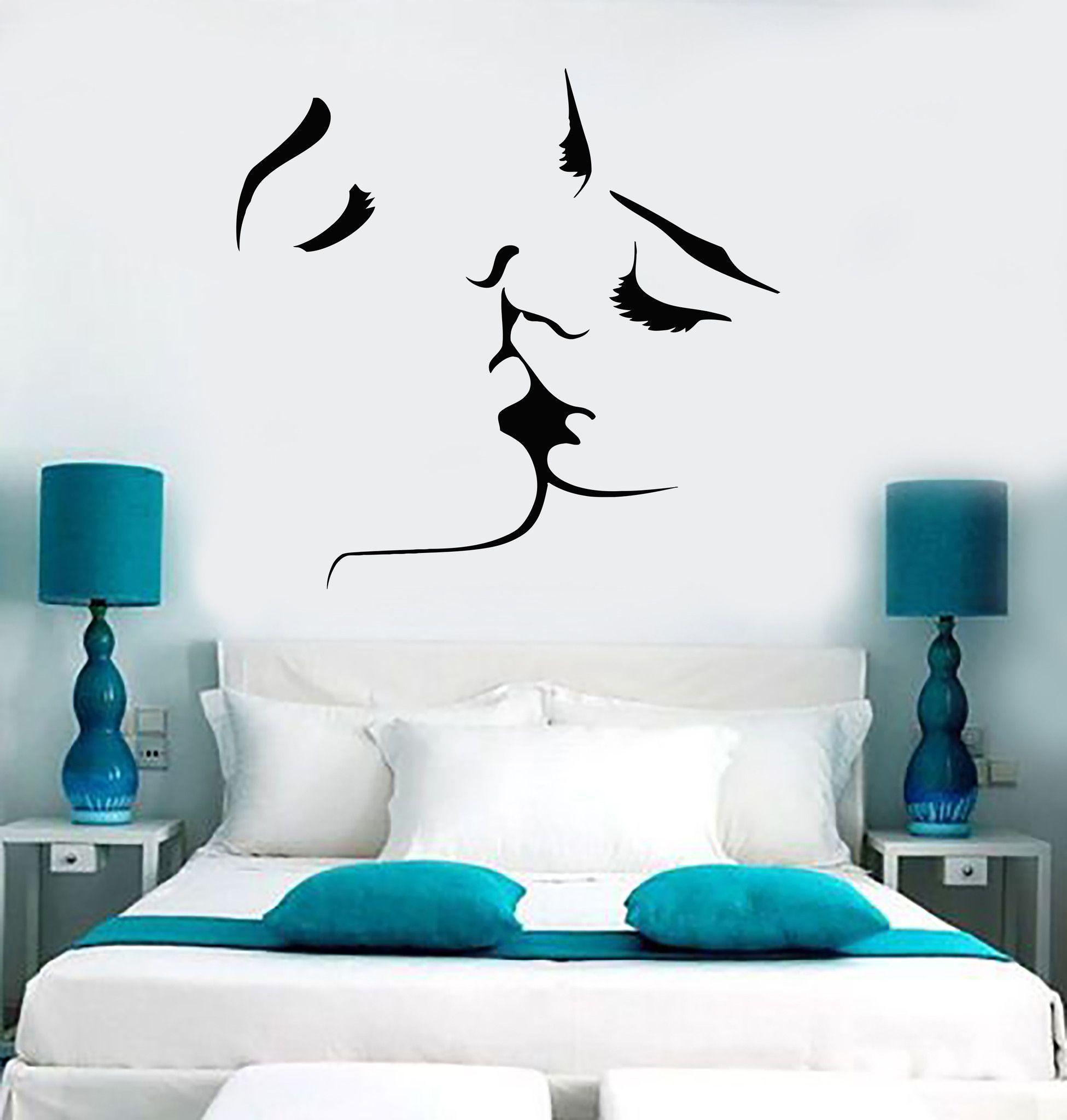Best Vinyl Wall Decal Kissing Couple Love Romantic Bedroom 400 x 300