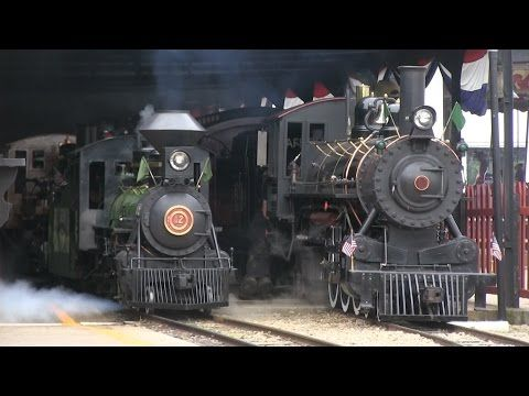 """16"""" Gauge Steam in the Rain: Whiskey River Railway Day 2016 - YouTube"""