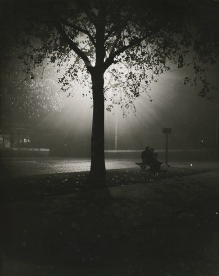 Couple on Bench at Night, Paris. 1930′s