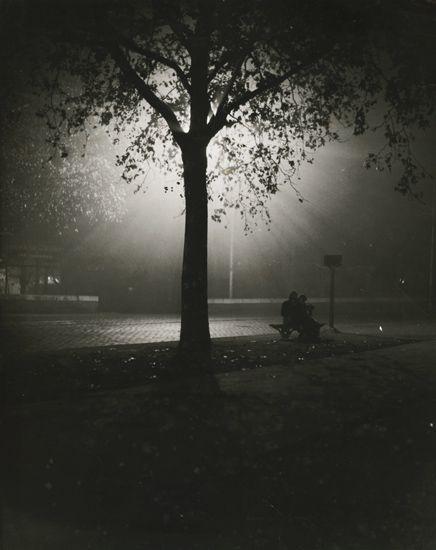 Couple on Bench at Night, Paris. 1930′s