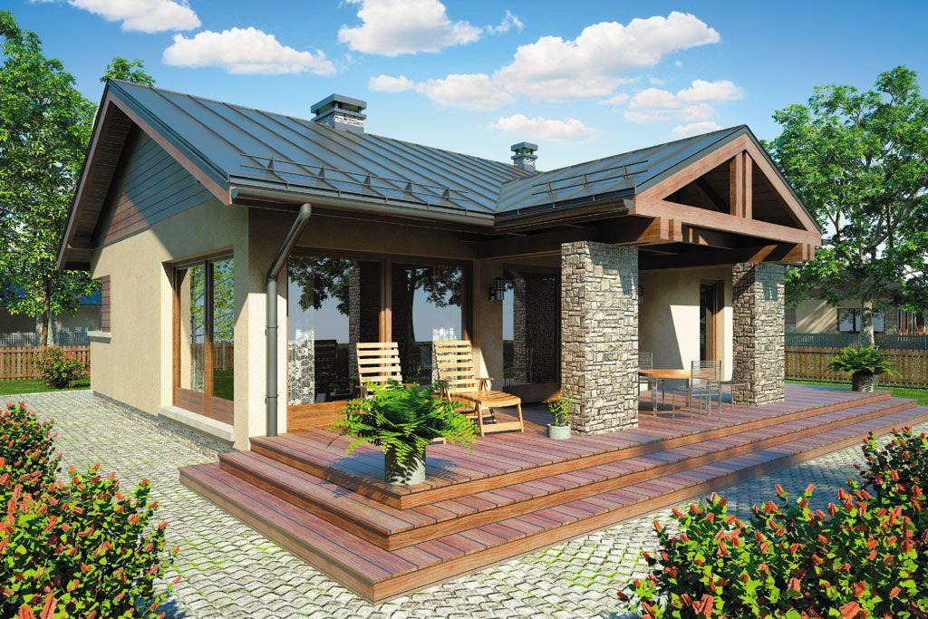Case De Vis Mici Cu Doua Dormitoare 3 Proiecte Detaliate Small Bungalow Small House Plan House Design