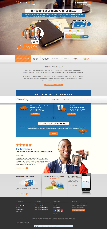 Virtual Wallet Pnc virtual wallet, Web banking, Web design