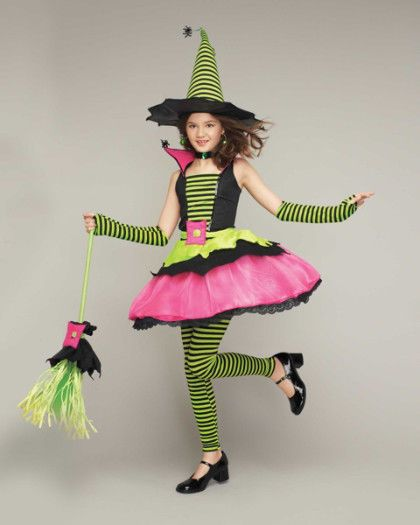 Princess Paradise Chasing Fireflies Girl Spiderina Witch Costume + ...