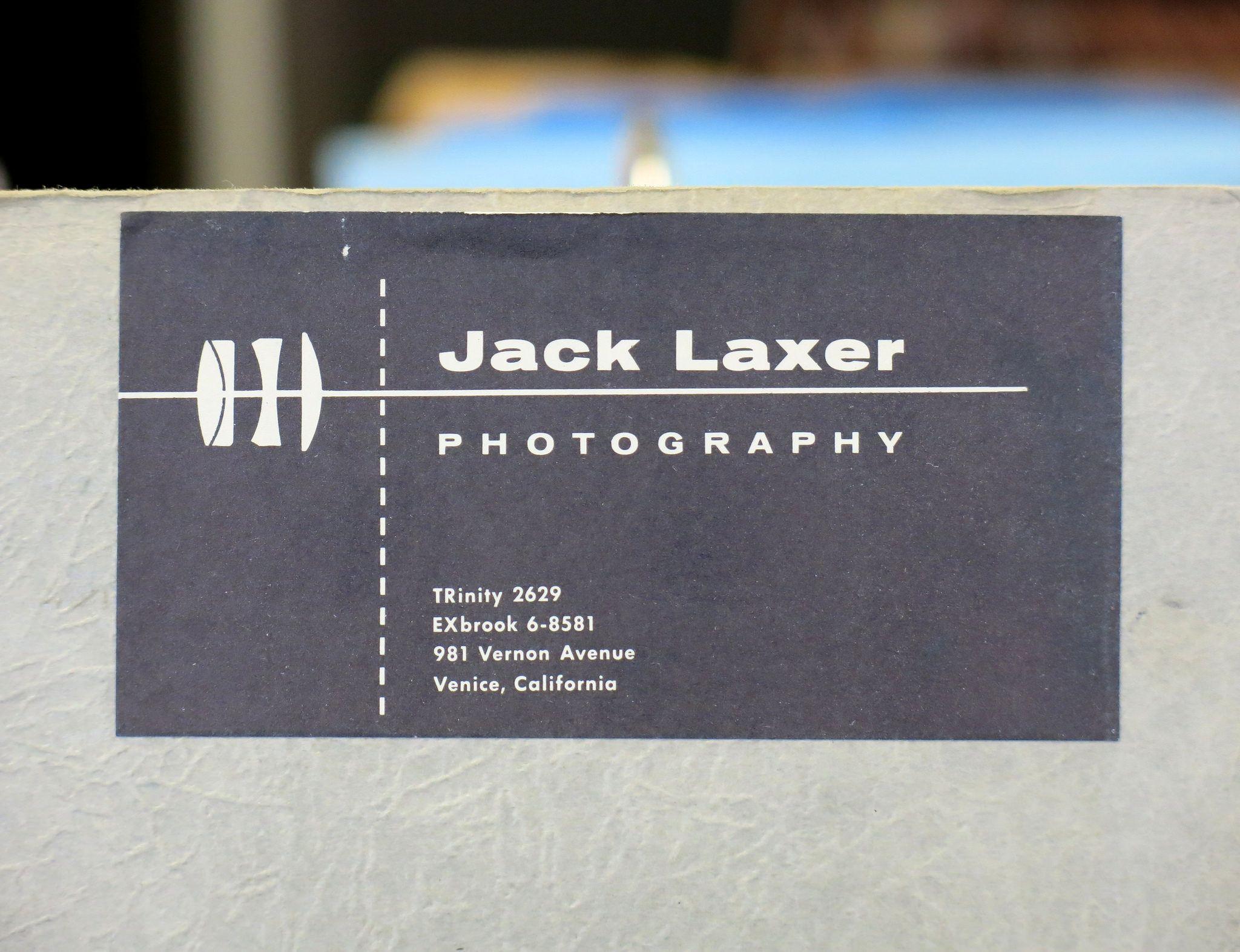 JACK LAXER - Photographer - Business Card