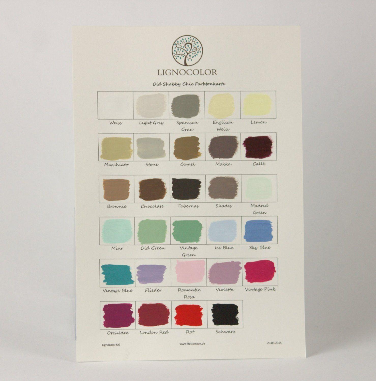 Baumarkt Auf Englisch lignocolor shabby chic farbtonkarte amazon de baumarkt chalk