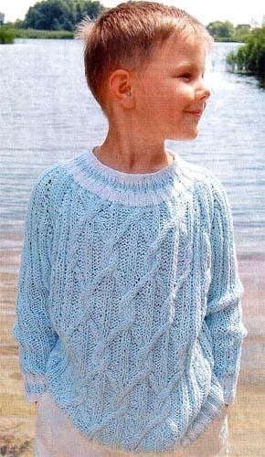Вяжем свитер для юноши