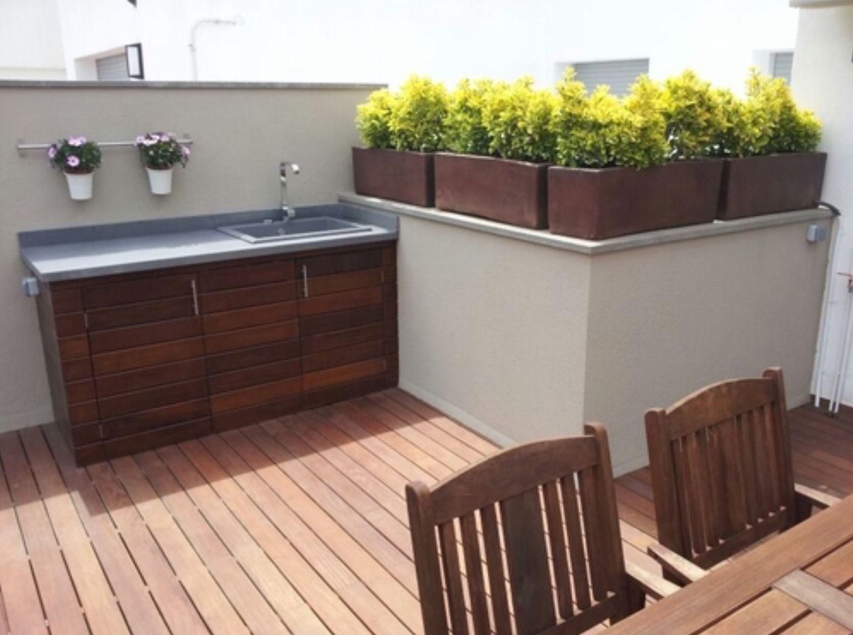 Fregadero en la terraza terraza pinterest fregaderos - Mueble para terraza ...