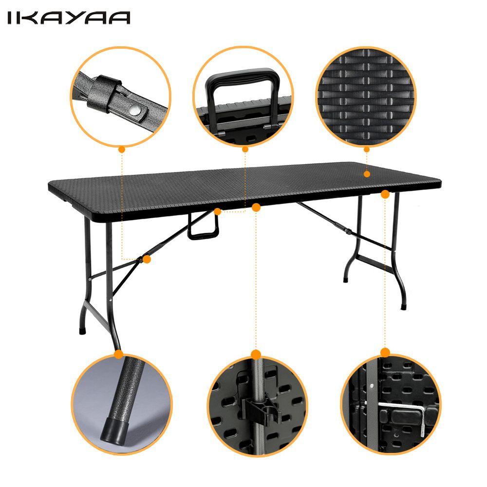 IKayaa UK Lager 6FT Folding Grilltisch Camping Picknick-tisch ...
