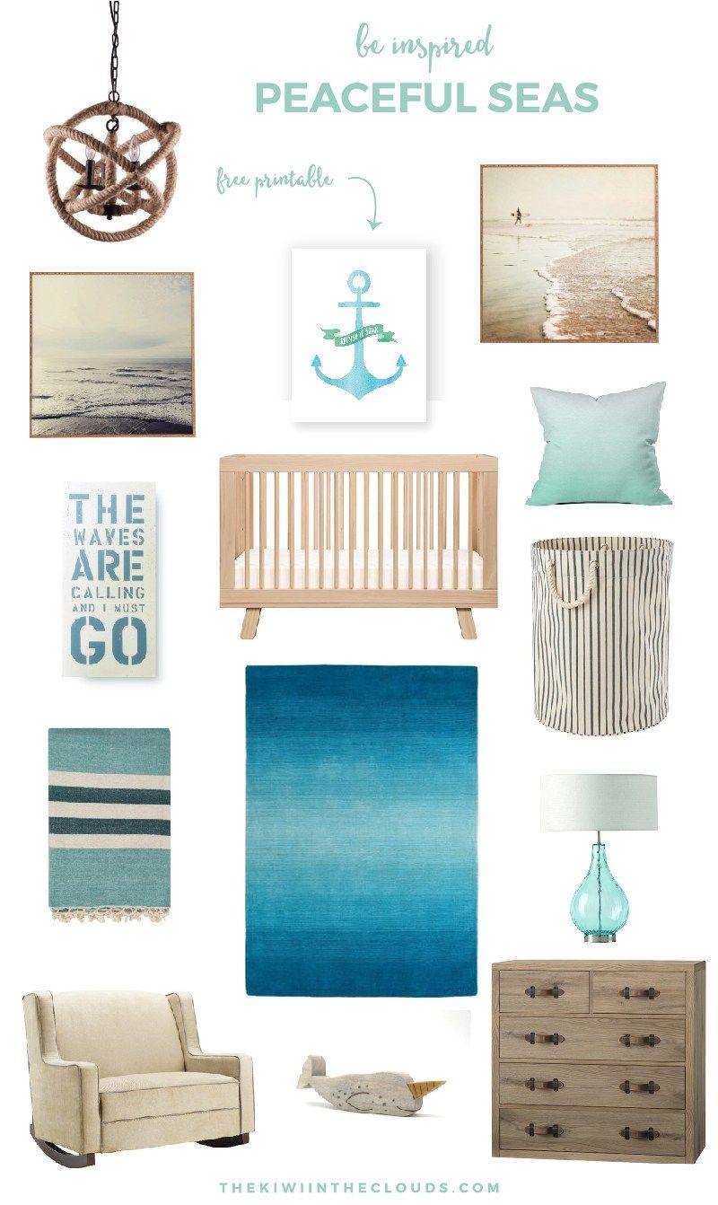 Nautical Baby Boy Nursery Room Ideas: Nautical Nursery: Peaceful Seas