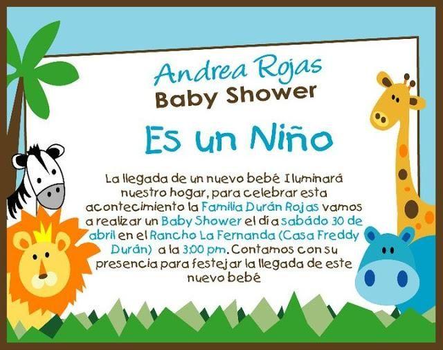 Baby Showers De Niño ~ Tarjetas de invitación para baby shower niño babies and babyshower