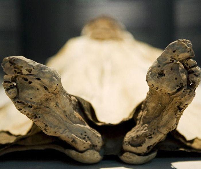 Momia de mujer del siglo 19.