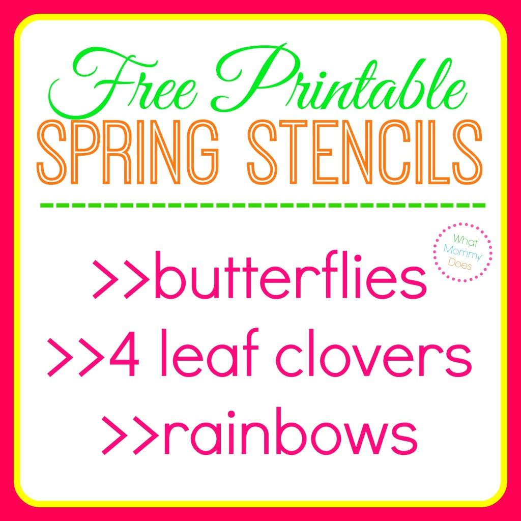 Free Printable Butterfly Stencils Four Leaf Clover Patterns Amp Rainbow Templates
